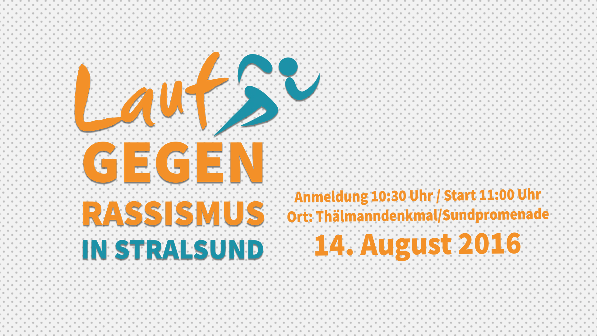 1. Lauf gegen Rassismus Stralsund