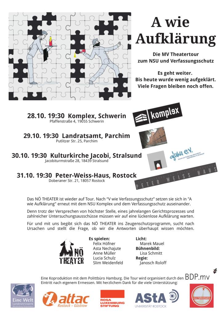 NÖ Theater in Stralsund: 30. Oktober – A wie Aufklärung