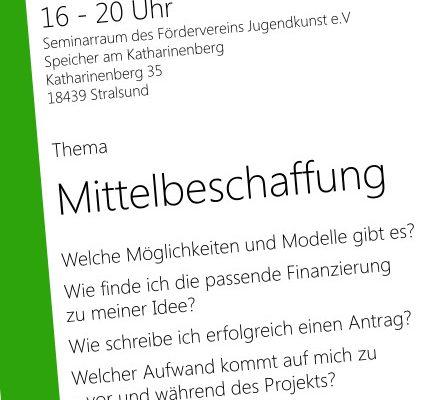 """Seminar: """"Mittelbeschaffung"""" der Mitmachzentrale V-R am 9.12."""