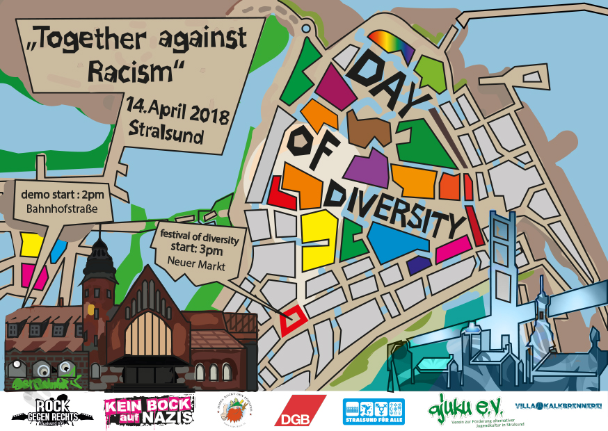 """day of diversity"" Stralsund – ""together against racism"""