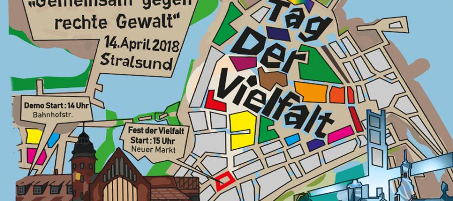 – update! – 14. April: Tag der Vielfalt – gemeinsam gegen rechte Gewalt in Stralsund