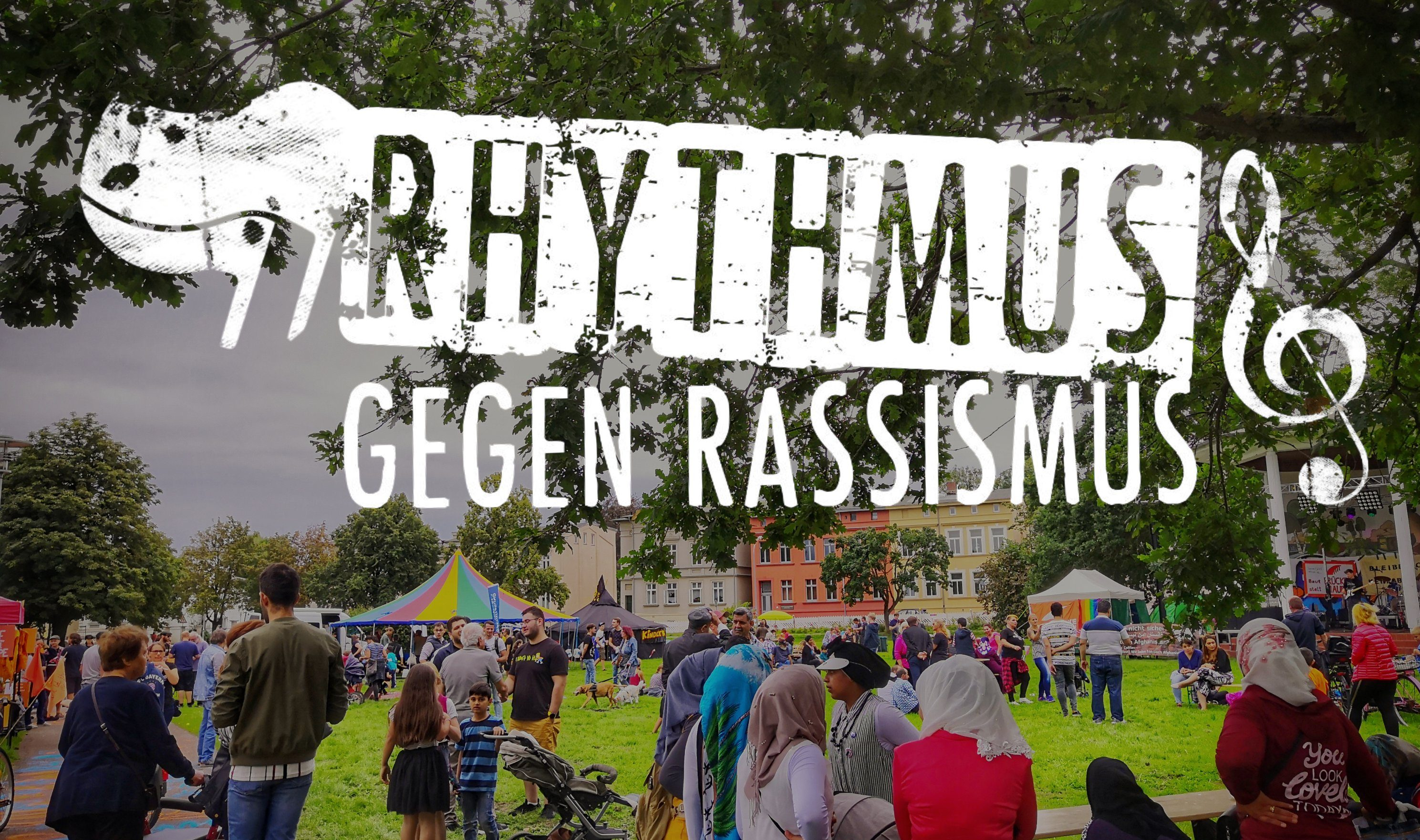 """17.8.2019 Güstrow """"Rhythmus gegen Rassismus"""" Aktionstag für eine offene Gesellschaft und gegen Rassismus"""