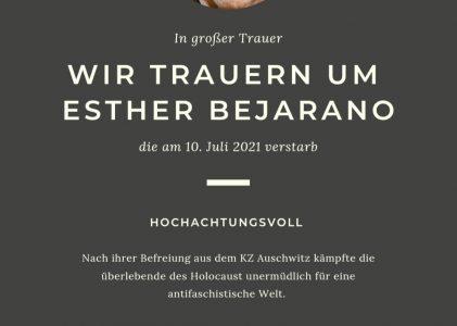 Wir gedenken Esther Bejarano!